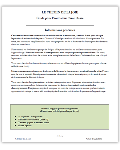 French Class Fac Guide