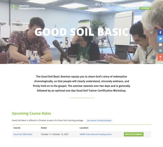 Good Soil Basic Web Page